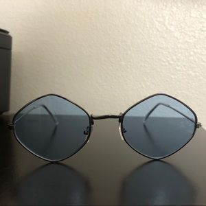 Blue free people glasses